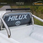 Защита кузова и заднего стекла 76,1 мм со светодиодной фарой Toyota Hilux 2015 /арт.820-7