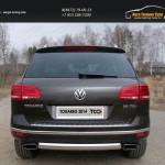 Защита задняя (овальная) 75х42 мм Volkswagen Touareg 2014+
