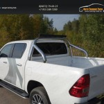 Защита кузова 76,1 мм со светодиодной фарой Toyota Hilux 2015 /арт.820-6