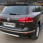 Защита задняя 60,3 мм Volkswagen Touareg 2014+