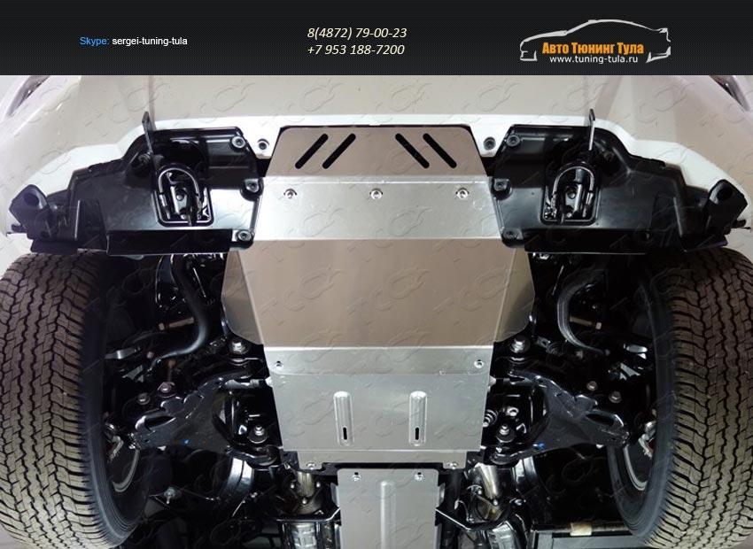 Защита радиатора+Защита картера+Защита КПП+Защита раздаточной коробки TOYOTA LC 200 2015+/арт.821-24