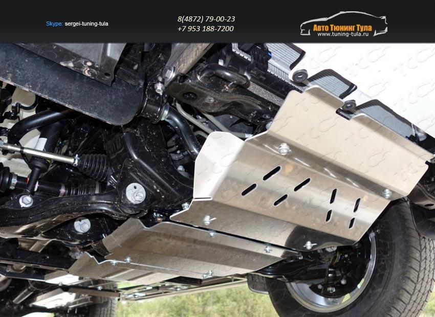 Защита радиатора+Защита картера+Защита КПП+Защита раздаточной коробки+Защита радиатора+Защита бака Toyota Hilux 2015/арт.820-19
