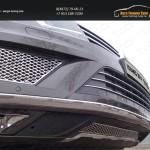 Решетка радиатора центральная (лист)+Решетки радиатора боковые (лист) Volkswagen Touareg 2014+