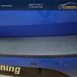 "Защита заднего бампера с покрытием ""KART RS NEW"" для Рено Сандеро 2014+ / арт.557-5-1"