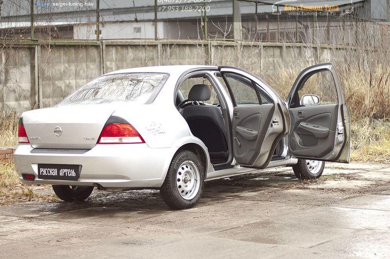 Накладки на внутренние пороги дверей Nissan Almera Classic 2007-2012/арт.114-4