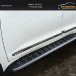 Пороги алюминиевые с пластиковой накладкой (карбон черные) 1720 мм TOYLC20015-13BL TOYOTA LC 200 2015+