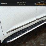 Пороги алюминиевые с пластиковой накладкой 1720 ммTOYOTA LC 200 2015+