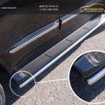 Защита порогов 42,4 мм (аналог Lexus LX570) TOYOTA LC 200 2015+