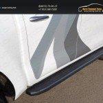 Пороги алюминиевые с пластиковой накладкой (карбон черный) 1920 мм код TOYHILUX15-12BL Toyota Hilux 2015/арт.820-17