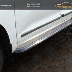 Пороги с площадкой (нерж.лист) 60,3 мм TOYOTA LC 200 2015+