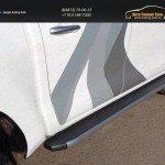 Пороги алюминиевые с пластиковой накладкой (карбон серый) 1920 мм TOYHILUX15-12GR Toyota Hilux 2015