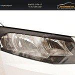 Накладки на передние фары (реснички) Skoda Octavia A7 2014+