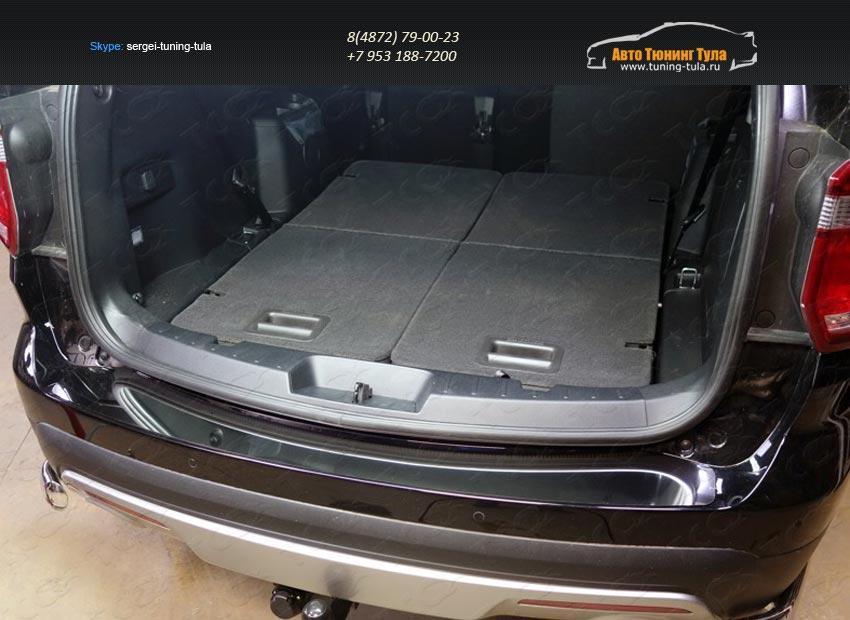 Накладка на задний бампер (лист зеркальный) FOREXPL16-26 Ford EXPLORER 2016+/арт.621-30