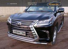 Защита передняя нижняя (двойная) 60,3/50,8 мм Lexus LX 450d 2015+/арт.670-28