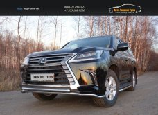 Защита передняя нижняя (двойная) 42,4/42,4 мм Lexus LX 450d 2015+/арт.670-30