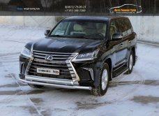 Защита передняя нижняя (двойная) 76,1/75 мм Lexus LX 450d 2015+/арт.670-26