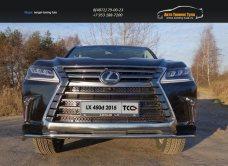 Защита передняя нижняя 42,4 мм Lexus LX 450d 2015+/арт.670-31