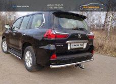Защита задняя 60,3 мм Lexus LX 450d 2015+/арт.670-34