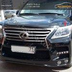 Накладки фар 2шт Lexus LX 570 2007 - 2015+/арт.670-32