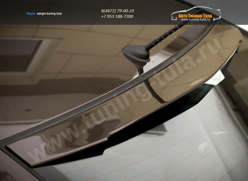 Накладка заднего стекла/ Козырек АБС-пластик Kia-Rio 2011+/арт.183-10