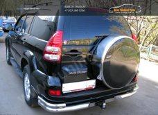 Бокс (чехол) запасного колеса из нержавеющей стали Mitsubishi PAJERO 3 Toyota PRADO/арт.654-30