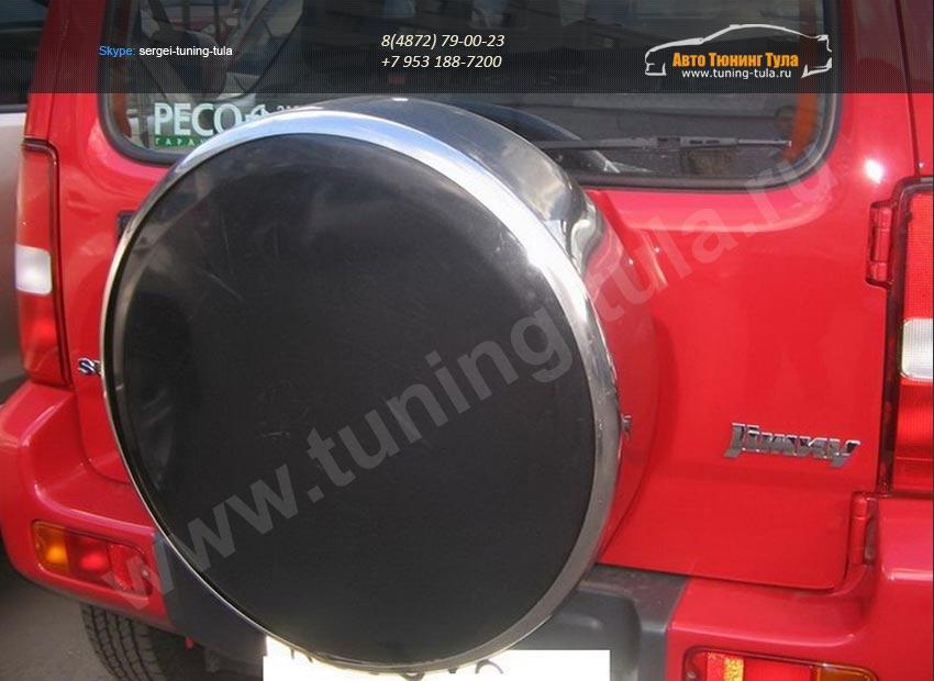 Бокс (чехол) запасного колеса из нержавеющей стали Suzuki JIMNI /арт.654-26