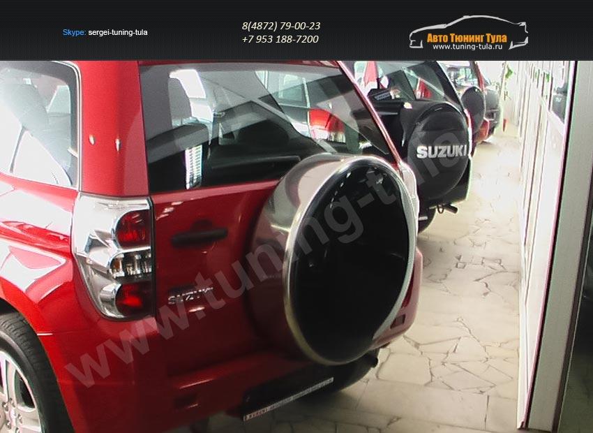 Бокс (чехол) запасного колеса из нержавеющей стали Suzuki GRAND VITARA 2005/арт.654-28