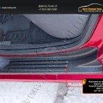 Накладки на внутренние пороги дверей Renault Sandero (Sandero Stepway) 2009-2013