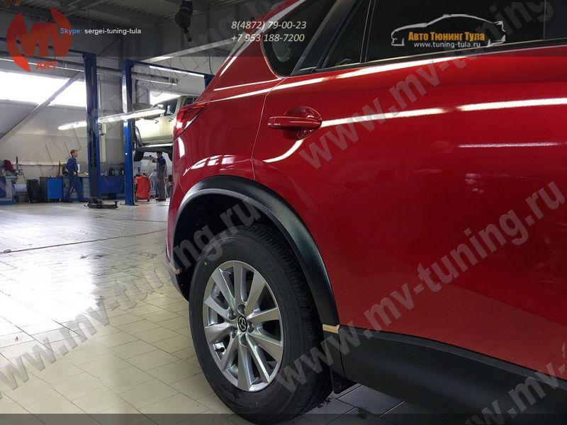 Mazda CX-5 2012-  Расширители колесных арок +30мм АБС- пластик / арт.831