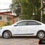 Молдинги на двери Lada (ВАЗ) Vesta 2015-