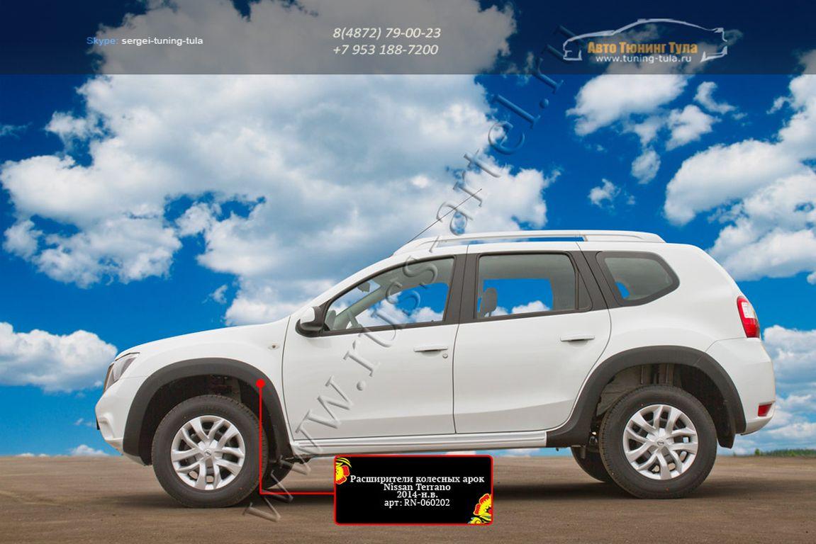 RN-060202 – Накладки на арки колес /расширители арок Nissan Terrano 2014-2015