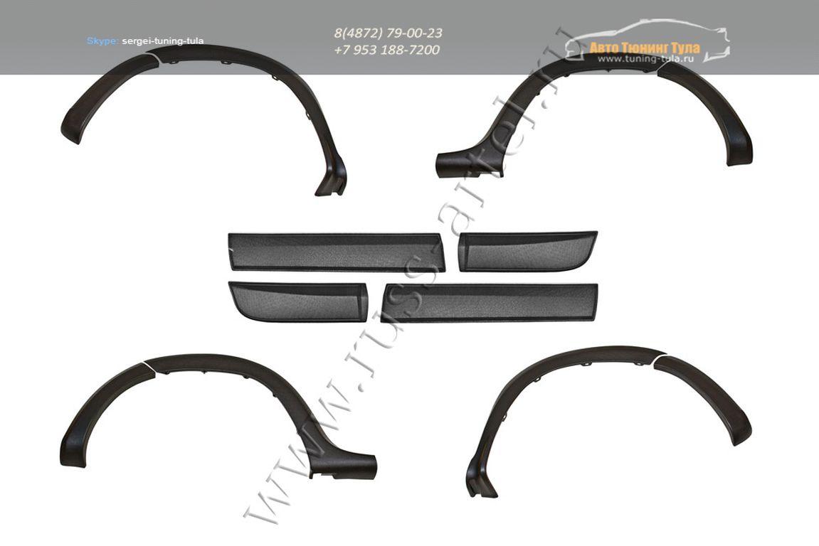 RN-060702 – Накладки на арки колес + молдинги дверей Nissan Terrano 2014-2015