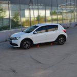 Накладки на арки + накладки порогов КАРТ Renault Sandero 2014+ / арт.835
