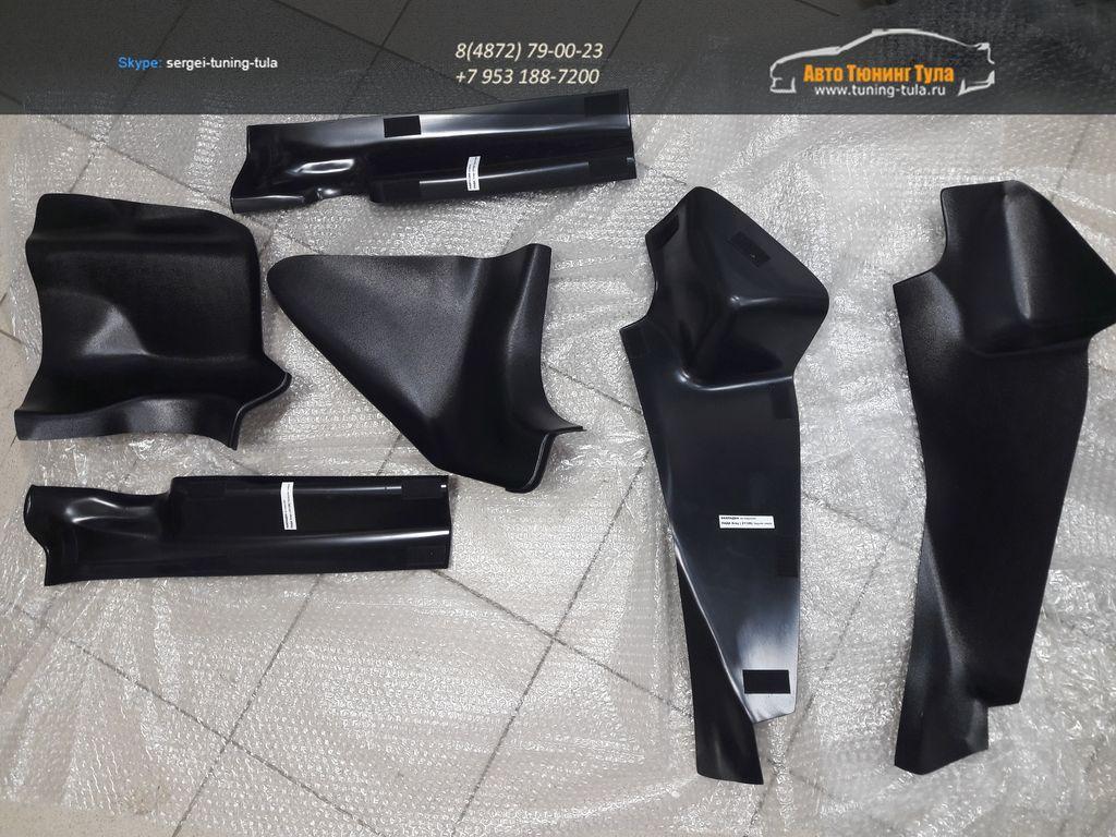 Тонельные (Центральные) накладки+Накладки на ковролин Рено Логан, Сандеро II 2014- | Renault Logan II 2014, Sandero II 2014-  /арт.267-24
