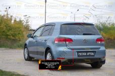 Накладка на задний бампер Volkswagen Golf VI 2009-2012 NV-154402