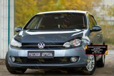 Накладки на передние фары (реснички) Volkswagen Golf VI 2009-2012 REV-081200
