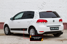 Молдинги на двери (вариант 2) Volkswagen Golf VI 2009-2012MV-076200
