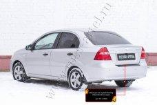 Накладка на задний бампер Chevrolet Aveo седан 2007-2012 NC-155002