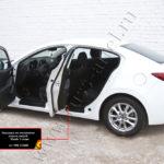 Накладки на внутренние пороги дверей Mazda 3 седан 2013- NM-152602