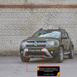 Зимняя заглушка решетки радиатора и переднего бампера Renault Duster 2015-ZRR-131402