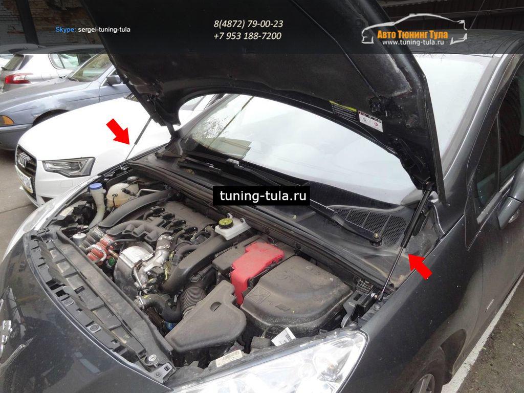 Амортизаторы (упоры) капота для Peugeot 408 2012-  KU-PG-4080-00