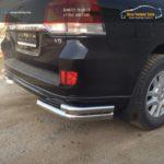 LC 1603 Угловая защита двойная 53, 70- Toyota LAND CRUISER - 200 EXECUTIVE BLACK/WHITE (2016 - по н.в.)