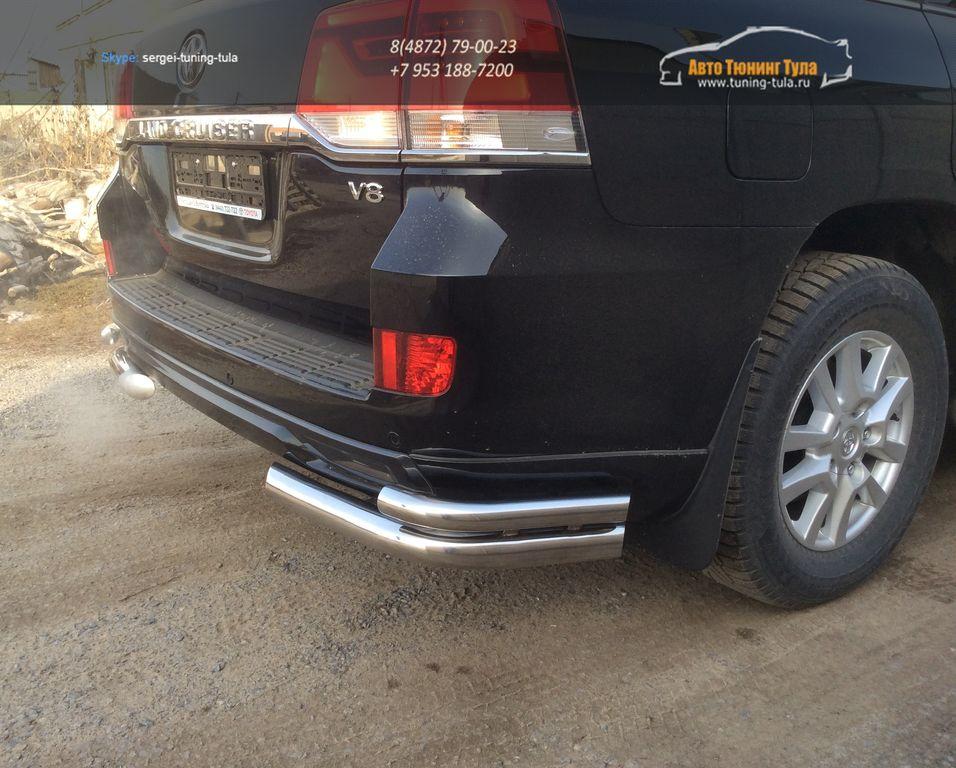 LC 1603Угловая защита двойная53, 70- Toyota LAND CRUISER – 200 EXECUTIVE BLACK/WHITE (2016 – по н.в.)