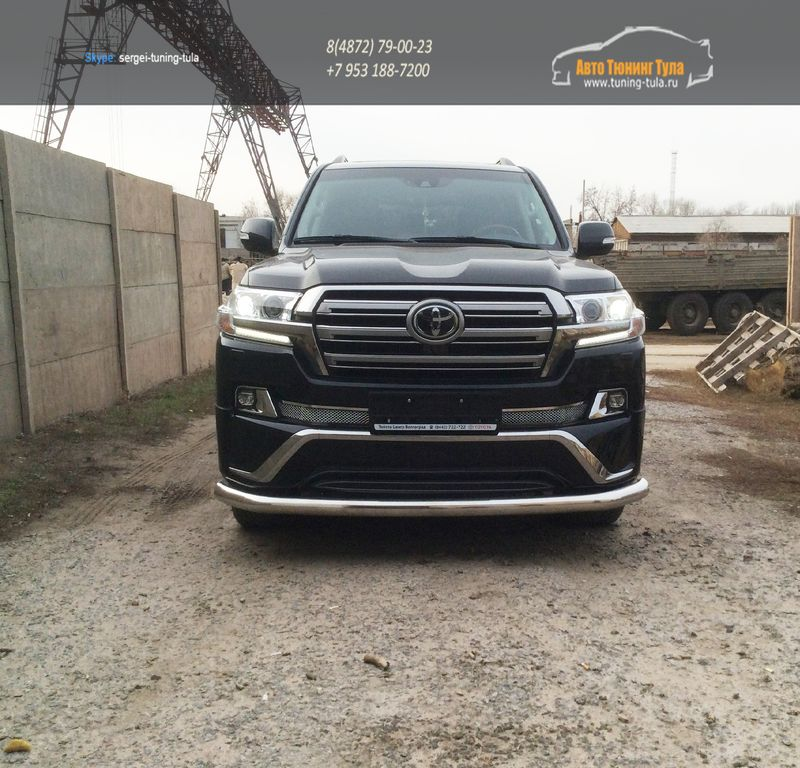 LC 1604	Передняя защита труба d70- Toyota LAND CRUISER – 200 EXECUTIVE BLACK/WHITE (2016 – по н.в.)