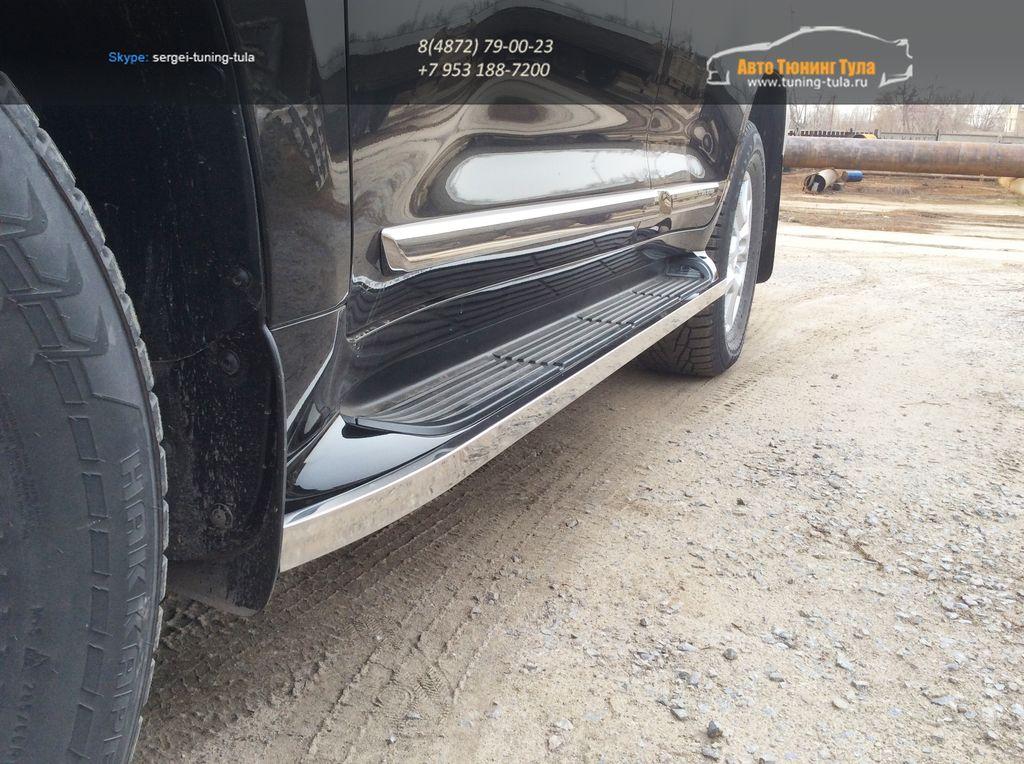 LC 1605Подпороги труба-20х40 Toyota LAND CRUISER – 200 EXECUTIVE BLACK/WHITE (2016 – по н.в.)