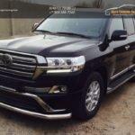 LC 1605Подпороги труба-20х40 Toyota LAND CRUISER - 200 EXECUTIVE BLACK/WHITE (2016 - по н.в.)