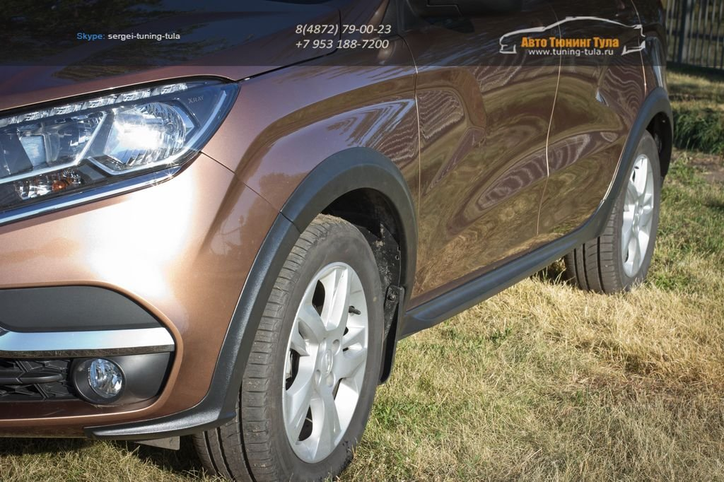 LADA Xray Cross обвес – расширители колёсных арок и накладки на пороги (АБС) LADA Xray (10 шт) с 2016 г.в. / арт.840
