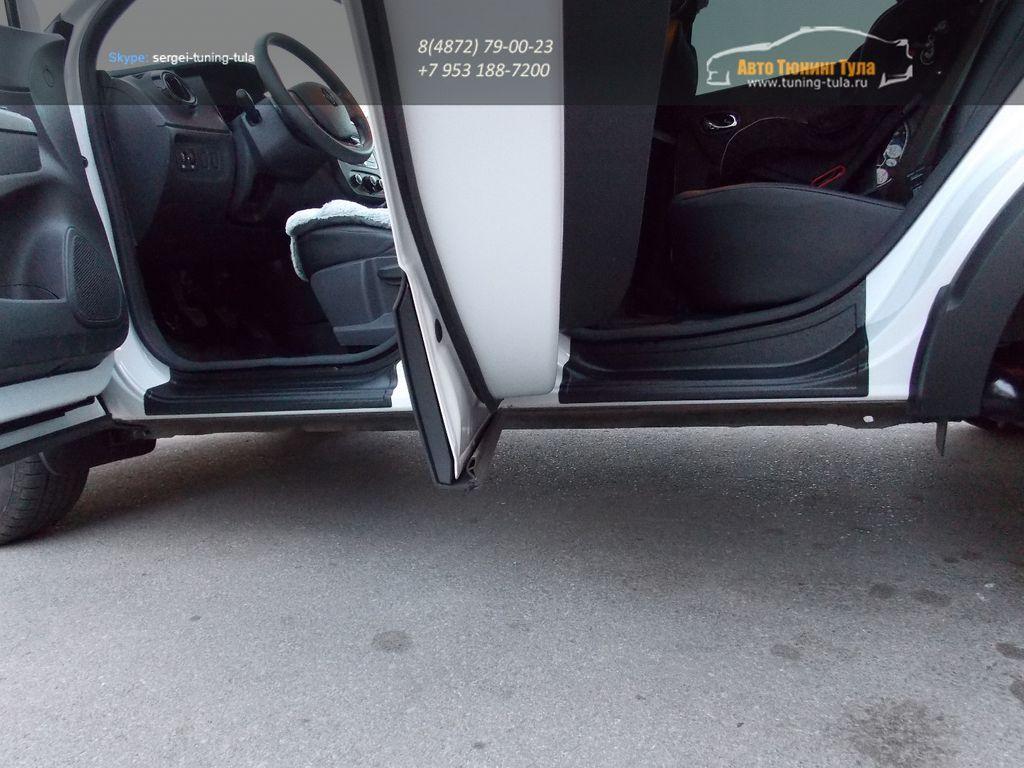 Renault Kaptur 2016- Накладки в проемы передних и задних дверей KART для Рено Каптур  ( 4шт.) /арт. 829-7