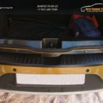 "Накладка на задний бампер + порожек багажника Рено Сандеро 2 | Renault Sandero 2 2014-""АртФорм"" с 2014 г.в. / арт.845"