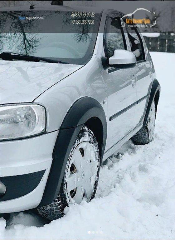 Renault Logan 2010-2013 Расширители колесных арок вынос 10 мм арт.852-3